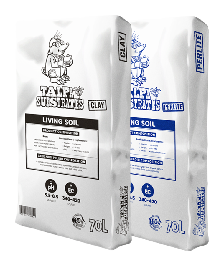 We relinquish dozens of soil mixtures and offer you only the very best. Keep it simple. All our substrates are kept as fluffy and airy as possible to obtain the ideal air/humidity ratio. Even after months our soil doesn't harden up and stays a superb product.